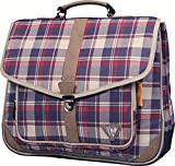 Clairefontaine Classic Bag 8012C Cartable 2 compartiments 38 cm 100 % coton/finition simili cuir Bleu