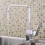 Wasserhahn Kochen Badezimmer Ein Loch Heiß und Kalt Mischen Wasserhahn Waschbecken Silber Geringe Steigung Einfach Waschbecken Messing