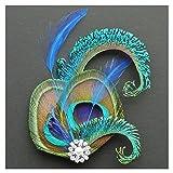 Jelinda women's peacock Bridal headband feather fascinator Headpiece hair accessories (2) Bild 1