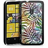 Nokia Lumia 620 Housse Étui Protection Coque Palmier Feuilles Jungle
