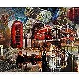 murando Papier peint intissé 350x270 cm Décoration Murale XXL Poster Tableaux Muraux Tapisserie Photo Trompe l'oeil London 10040904-60