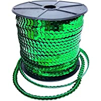 100Patio lentejuelas Recorte Adornos Decoración De Encaje Diseño 5Mm Oro Plata Verde Rojo Verde por accesorios ático ® verde