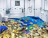 Chan-Mei Benutzerdefinierte Wandbild 3D-Bodenbeläge Bild Selbstklebende Tapete Meer Wal Fische Home Decor Malerei 3D Wandbilder Tapeten Hintergrundbild Tapete Fresko Wandmalerei 150cmX100cm