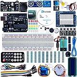 ELEGOO Conjunto Medio de Iniciación a UNO para Arduino con Tutorial en Español y Conjunto de UNO R3, Relé de 5V, Modulo de Fuente de Alimentación, Servomotor, Placa de Desarrollo de Prototipos, etc.