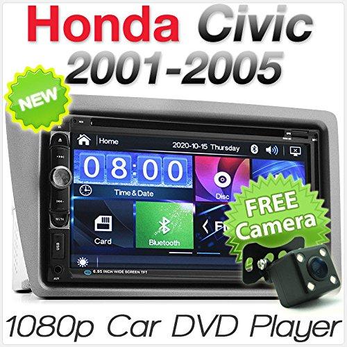 tunez In-Dash Video Doppel Din Auto DVD MP3 Player Stereo Radio CD Für Honda Civic Hatchback 3 Türer, 5 Türer (7. Generation, EP2, EP3, EP4) Jahr 2001 2002 2003 2004 2005 Verkleidungssatz