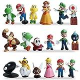 WENTS Super Mario Figures 18 Pezzi / Set Super Mario Toys Figurine Mario & Luigi Yoshi & Mario Bros Action Figures Mario PVC