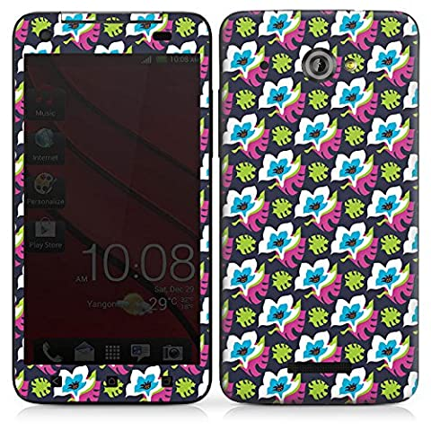 HTC Butterfly Adhesive Protective Film Design Sticker Skin Flowers Flowers