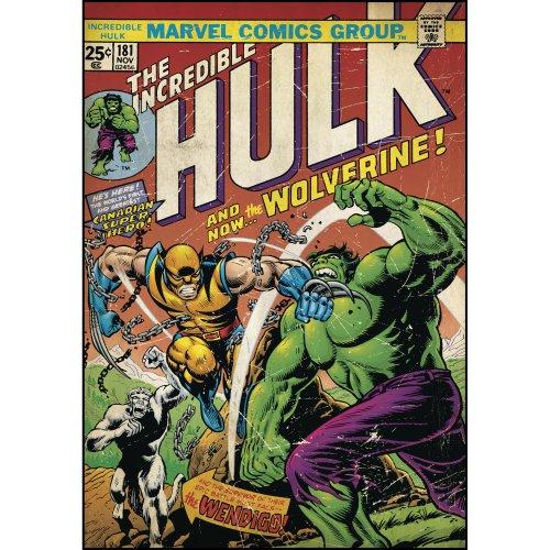 RoomMates Wandtattoo, Motiv Comic-Titelblatt Hulk und Wolverine (Wolverine Wandtattoo)