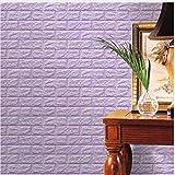 QINCH Home 10Colores 60X60X0.8Cm PE Foam 3D Wallpaper DIY Pegatinas de Pared Decoración de la Pared en Relieve de Piedra de ladrillo