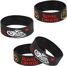 Vheelocityin Royal Enfield Wrist Band Black Wristband