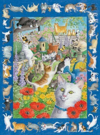 57 Cats & One Very Quiet Mouse Jigsaw Puzzle 550pc by Serendipity Puzzle Company