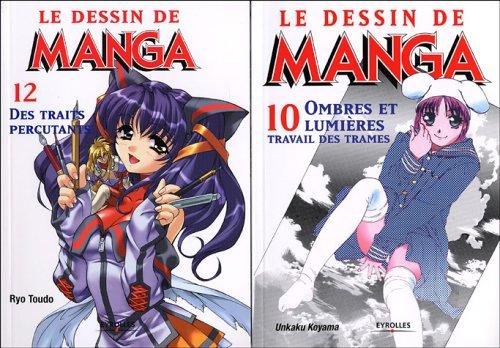 Le dessin de Manga : Pack 2 volumes : Tome 10, Ombres et lumires, travail des trames ; Tome 12, Des traits percutants
