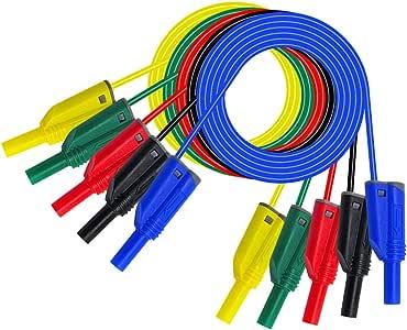 4mm Bananenstecker Messleitung Haken Clip führen Kabel für Multimeter