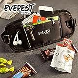 EVEREST FITNESS Sport-Gürteltasche mit Smartphone- und Geldfach in Schwarz, inklusive Reflektor-Streifen für erhöhte Sichtbarkeit in der Dunkelheit | mit 2 Jahren Zufriedenheitsgarantie | Mehrzweck-Gürtel, Handytaschre, Hüfttasche, Bauchtasche - 5