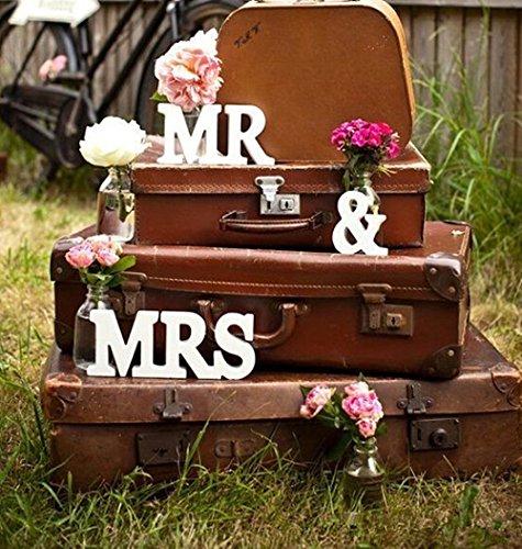 SLHP Mr & Mrs Hochzeit Zeremonielle Dekoration für Wooden Letters Wedding Decoration Zeichen Top Hochzeitstisch Table…