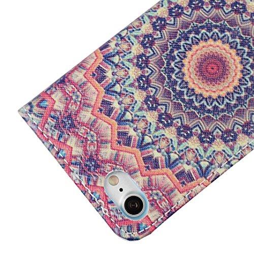 iPhone 6 Plus Totem Case, 6S Plus Lederhülle iPhone, Asnlove Farbe Totem Series PU Ledercase Tasche Hüllen Schutzhülle Scratch mit Magnetverschluss Telefon-Kasten Handyhülle Standfunktion Handycover f Color-4