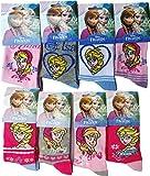 Disney Frozen Socken 8-er Pack - Elsa und Anna - Zusammen für immer - Die Eiskönigin - Völlig unverfroren - Mehrfarbig