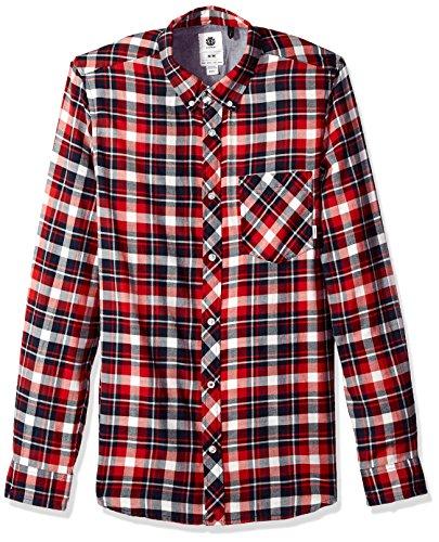 Element Herren Goodwin Long Sleeve Woven Button Down Hemd, Bone White, Klein -