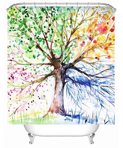 Fantastische Duschvorhang Duschvorhänge, kreative Graffiti 3-D-Drucken wasserdicht Moldproof Deckkraft Badewanne Vorhang mit Haken Antistatische Duschvorhang (Farbe: D, Größe: 180*240cm)