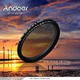 Andoer® 67mm ND Densidad Neutra de Atenuadores Fader Neutral Density Ajustable ND 2 a ND 400 Filtro variable para Canon Nikon DSLR Cámara