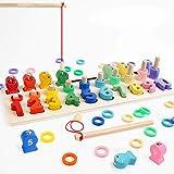 LBLA Niños Puzzle de Bloques de Madera Montessori Tablero de Conteo de Números de Apilamiento de Clasificación Matemática Apr