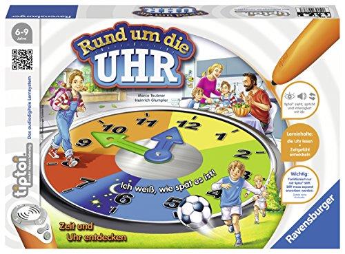 Ravensburger tiptoi Lernspiel Rund um die Uhr - 00736 / Spielend einfach die Uhr lesen und verstehen
