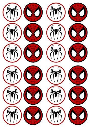 Spiderman #2 Aufsätze essbar aus Reispapier 24 x 4,5 cm Cupcake Topper/Dekoration
