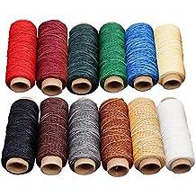 AOLVO Hilo Encerado arcoíris, 6 – 12 Colores 54 Yardas Multiusos Hilo de Coser Surtido