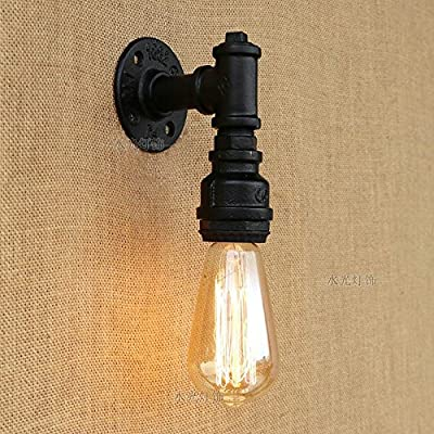 Aiehua Water Pipe Vintage Wall Light Single Head Creative Wall Sconce Industrial Lighting Retro Metal Wall Lamp Wrought Iron Metal Style Wall Lantern Antique Feelings Steampunk Edison Wall Spotlights Indoor Home Lights Fixture from Aiehua