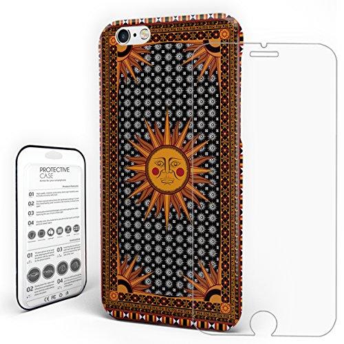 YEHO Art Gallery Schutz Hülle Case Design Hartschale Hippie Sonne Slim Case für iPhone 6/iPhone/6S/iPhone 6S Plus/iPhone 7/iPhone 7Plus/iPhone 8by iPhone 6s Stil 1
