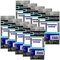 qualicare Kompression fit bequemes Erste Hilfe Bandage Unterstützung Single Pack–5cm x 4m–10Stück preisvergleich bei billige-tabletten.eu