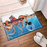 cdhbh der Oktopus Quere Ein Fisch Flasche Bad Teppiche Rutschhemmend Boden Eingänge Outdoor Innen Vorne Fußmatte, 40,6x 61cm Badteppich