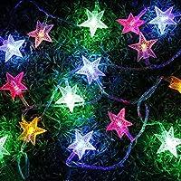 Denknova® 100LED 10M Light String/Stelle Forma Stringa Di Luce/Mood Lights/Catene luminose/luce fata, 8 modalità, disegno collegabile, per Natale/Giardini/Balconi /matrimonio / partito / decorazione esterna/ interno( 2 Colore) (multicolore)