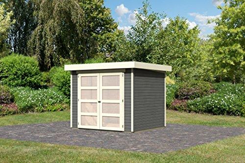 Karibu Gartenhaus Mühlendorf 3 terragrau 19 mm