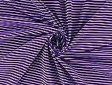 Baumwolljersey Stripes lila/flieder, Meterware ab 0,5 m/Top-Qualität/Öko-Tex 100