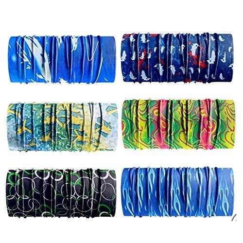 Bj-shop fasce, bandana bandane multifunzionali senza cuciture elastiche magiche all'aperto resistenza uv per equitazione, motociclismo, escursionismo, pesca, yoga e altre attività all'aperto