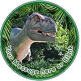 ND1T-Rex dinosaures–Anniversaire Gâteau Ronde personnalisée: environ 7,5