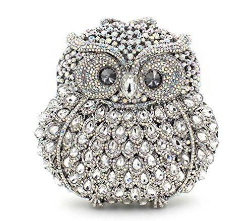 WYB Luxus handgefertigte Diamant-Abendbeutel / Hand über Bohrungen hochwertigen Kristall Abendtasche color 5