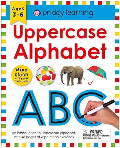 Wipe Clean Workbook: Uppercase Alphabet (Priddy Learning) por Roger Priddy