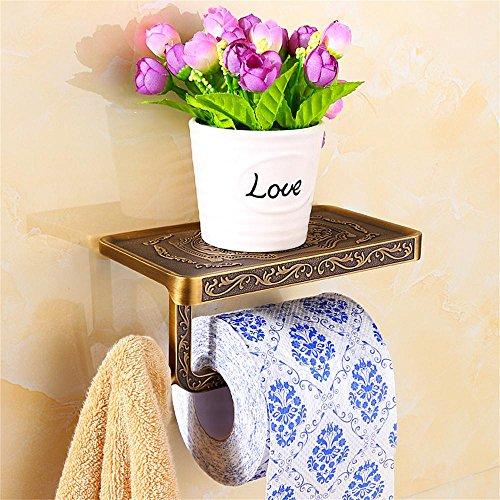 Bathroom Accessories Jack Mall Toilettenpapierhalter Toilettenpapierkasten Toilettenpapierrollenhalter Handtuchhalter (Farbe : Bronzer) - Kostenlose Bronzer