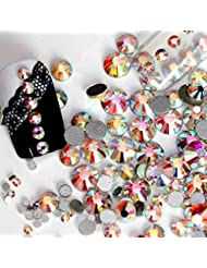 NEW Nail Art strass AB cristal blanc 1440pcs/Sac Colle Sur non cabochons Hotfix strass Décorations pour ongles (SS12)