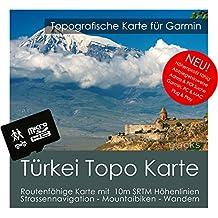 Turquía Garmin tarjeta Topo 4GB MicroSD. Mapa Topográfico de GPS Tiempo Libre para Bicicleta Senderismo Excursiones Senderismo Geocaching & Outdoor. Dispositivos de Navegación, PC & Mac