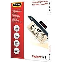 Fellowes 5328601 53286 Film de plastification Capture 125 microns Mat A3, 100 Pièces, Transparent