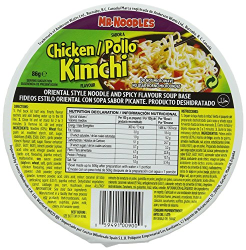 Mr. Noodles Chicken Kimchi (12 x 86g)