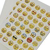 MagiDeal 20 Blätter Sterben Schnitt Emoji Aufkleber Für Telefon-Laptop Dekor Test