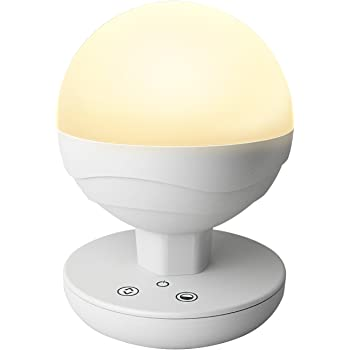 XPHOTs Children's Dimmable LED Bedside Lamp,Touch Night Light/ LED Baby Night Light /Camping Lantern for home, indoor and outdoor ( Warm white and White light Adjustable, Built-in Battery)