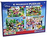 Clementoni 77045 – Puzzle Mickey Mouse Club House, 20 + 60 + 100 + 180 Stück