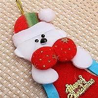 Bluelover Natale Santa pupazzo di neve orso Elk ornamento partito albero appeso campana Home decorazione - n. 3