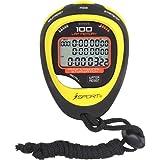 Digital professionell stoppur timer tre rader display friidrott racing stoppur med 100 varv-minne delad tid för sporttränare