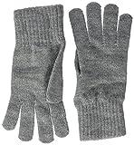 Tommy Jeans Damen BASIC KNIT DENIM GLOVES   Knit Grau (Light Grey Heather Bc04 - Vol39 013) One size (Herstellergröße: OS)